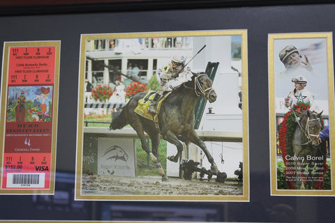 ARTIST PROOF Kentucky Derby 2010 Calvin Borel Churchill Downs Hockensmith Ticket