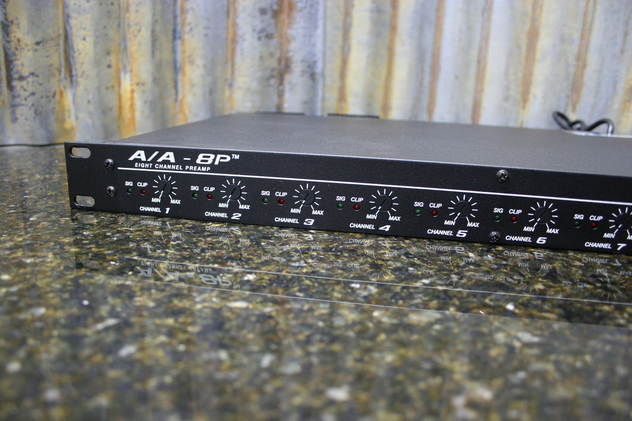 peavey a a 8p architectural acoustics rack mount 8 channel preamp