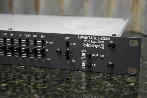 Advantage BiAmp mEQ301 Micro Equalizer Rack Mount Great Condition Free Shipping