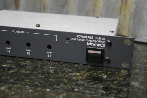 Advantage BiAmp Model DP/M 28 Rack Mount Distribution Preamp Mixer Free S&H Incl