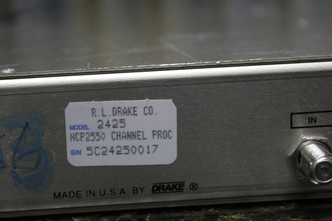 Drake HCP2550 Channel Processor Fully Tested Fast Free Shipping Included