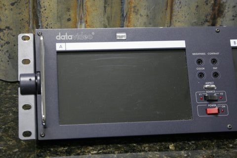"Datavideo TLM-702 2x7"" Rackmount LCD Broadcast Monitor Great Condition Free S&H"