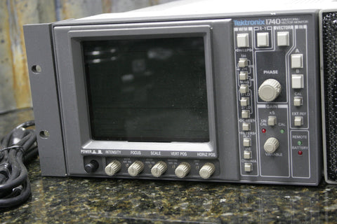 Tektronix 1740 Waveform Vector Monitor w/Anchor Audio Broadcast Monitor FREE S&H