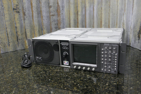 Tektronix 1740A Waveform Vector Monitor w/Anchor Audio 1400 Broadcast Monitor