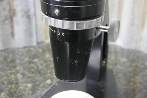 Junco Model TSB-1 1x-3x Widefield Microscope 10x Eyepieces FOR PARTS OR REPAIR