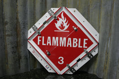 Kresky Flip File Hazmat Placards 6 Cards Multiple Units Available FREE SHIPPING - tin can industries - 1