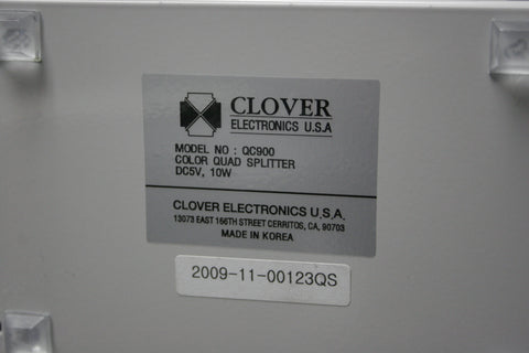 Clover Electronics QC900 Color Real Time Digital Quad Splitter FREE SHIPPING