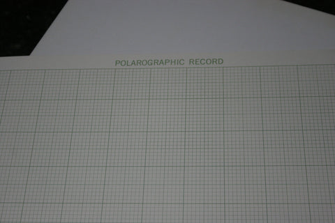 NOS Princeton Applied Research 9334 Polarographic Record Charts FREE SHIPPING