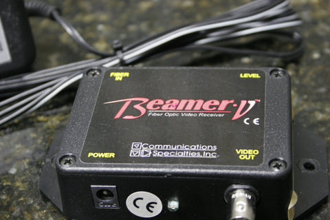 Beamer V Composite Video Over Fiber Receiver w/AC Adapter Fully Tested FREE S&H