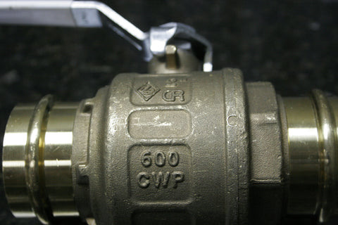 "NEW FNW 2"" Brass Low Lead Full Port Ball Valve Press Fitting Fast FREE SHIPPING"