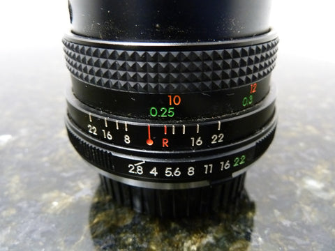 Vintage Topman 28mm f:2.8 Fast Wide Angle Lens With Minolta Mount Free Shipping