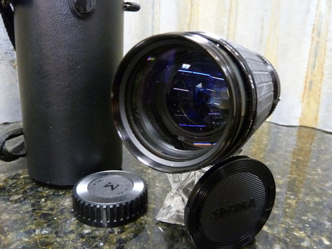 Vintage Sigma KII 70-210mm f/4.5 Telephoto Lens & Case With a Konica AR Mount