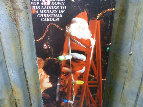 Mr Christmas Stepping Santa & Sleigh Climbs Ladder & Plays Music Free Shipping