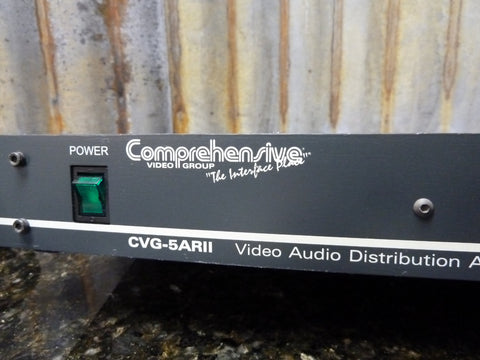 Comprehensive Video Group CVG-5ARII 5 Way Audio & Video Distribution Amplifier