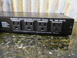 Atlas Sound Slimline Rack Mount Power Panel ACRL-291 8sw 1unsw Pull Out Lights