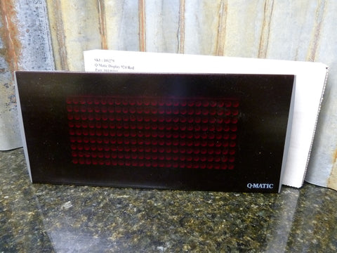 Q-Matic Model 924 Red LED Number Display Brand New Fast Free Shipping Included