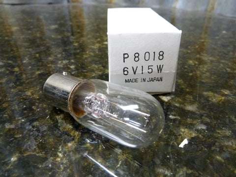 BRAND NEW OLD STOCK P8018 6v 15w Halogen Microscope Lamp Bulb Japan Ships Free