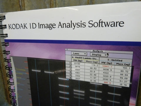 Kodak ID Molecular Image Analysis Software Manual Only Free Shipping Included