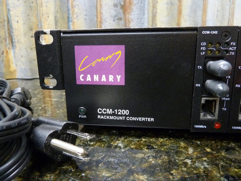 Canary CCM-1200 Rackmount Converter UTP to Fiber 4 x CCM-1242 Fast Free Shipping
