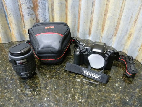 Pentax PZ-10 35mm SLR Film Camera Bundle w/SMC 28-80 AF Zoom Lens Free Shipping