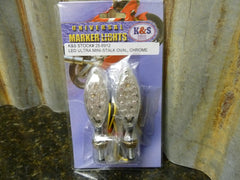 IN STOCK K&S Technologies 25-8912 LED Ultra Mini Stalk Marker Lights Chrome - tin can industries - 1