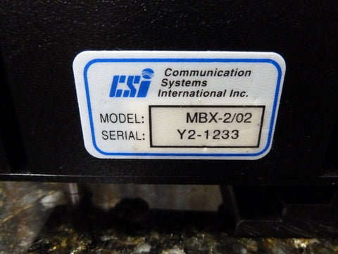 CSI MBX-2 DGPS Radio Beacon Receiver MBX-2/02 Good Condition Free Shipping