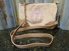 NWT Juicy Couture JC Crown Cameo Crossbody Beige YHRU0118 Free Shipping Included - tin can industries - 1