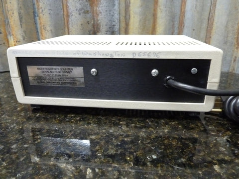 Global Specialties Corporation Model 6000 Frequency Counter Powers On Free Ship