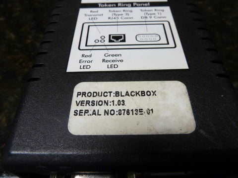 Black Box LBU9001-US Ethernet To Token Ring Adapter Includes AC Free Shipping