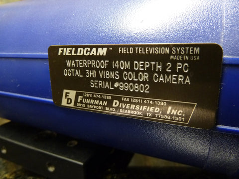 Fuhrman Diversified Fieldcam Underwater Color Video Camera & Housing Ships Free