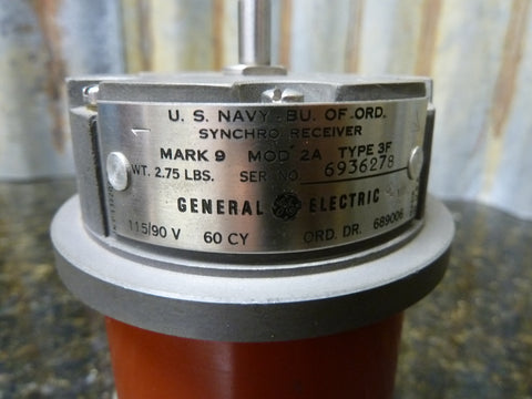 GE Model 2A MK 9 Type 3F Synchro Receiver Tested Great Condition Free Shipping