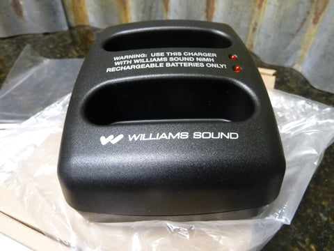 Brand New Williams Sound 3V Dual Charger Base T36 T37 Motiva CHG3502 Free S&H