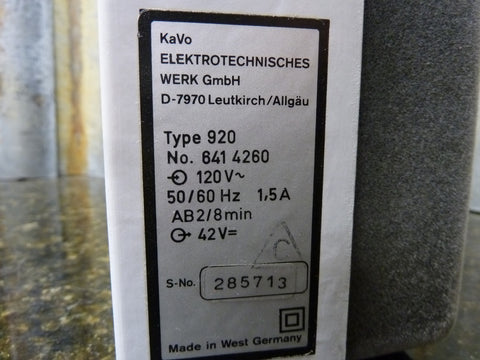 Kava K9 EWL Type 920 Dental Laboratory Drill Speed Controller Free Shipping Incl