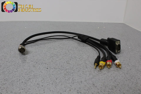 Cables To Go C2G 1.5' RapidRun HD15 VGA Male RCA Comp 3.5mm Flying Lead 60018