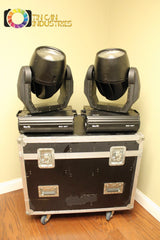 PAIR of Martin Mac 600 Movers w/Road Case & FREE FREIGHT Fully Tested Nice Units