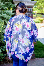 Load image into Gallery viewer, Floral Goddess Kimono in Navy