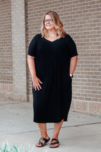 Load image into Gallery viewer, Black Oversized Dress