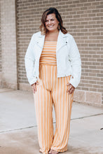 Load image into Gallery viewer, Mustard Striped Jumpsuit- Strapless