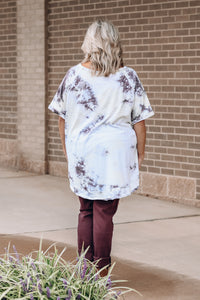Ivory TieDye Oversized Top