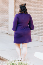 Load image into Gallery viewer, Purple Tunic Dress