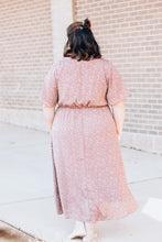 Load image into Gallery viewer, Mauve Button Midi Dress