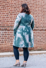Load image into Gallery viewer, Hunter/Grey Tiedye Pocket Dress