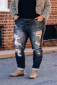 Blk Destroyed Boyfriend JB Jeans