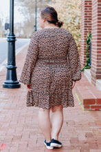 Load image into Gallery viewer, Leopard Smocked Dress