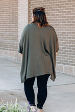 Load image into Gallery viewer, Dark Olive Poncho Top