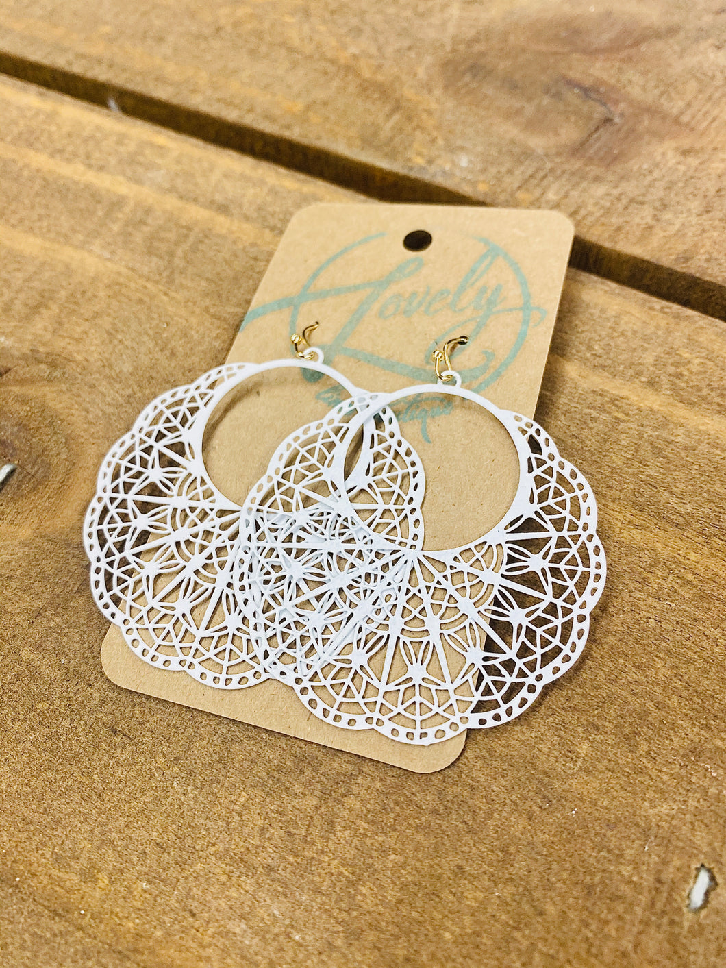 White Filigree Dangles