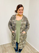 Load image into Gallery viewer, Camo Knit Duster