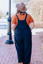 Load image into Gallery viewer, Black Overall Jumpsuit