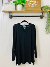 Load image into Gallery viewer, Black Dolman Slit Tunic