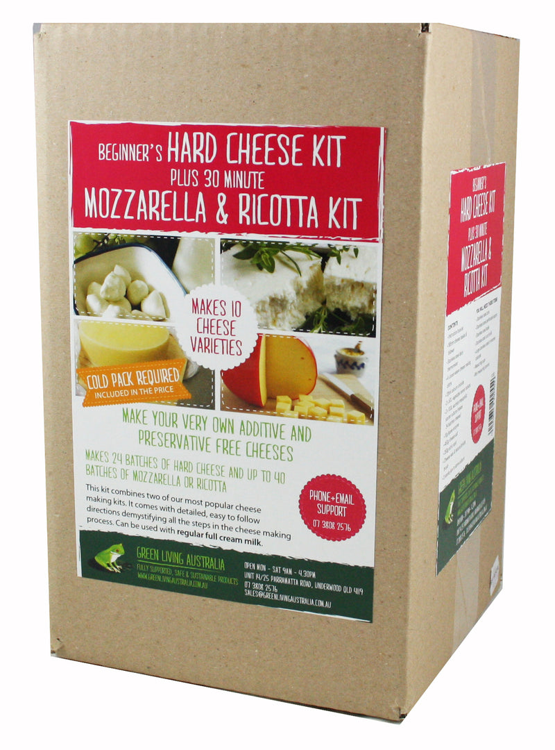 Hard Cheese, Mozzerella & Ricotta Combo Kit